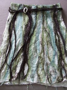 """Nuno Felt Skirt"" by Beth Connors. Quote: ""One of my final pieces for my City and Guilds felting course."""