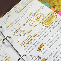 """getstudyblr: """" 01 . 06 . 2016 //  I love yellow so much you guys have no idea  Also these are my physics notes with a hint of existential crisis because it's  already June """""""