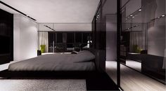 Glass partition, bedroom project in Bratislava in Poland by Moomoo _