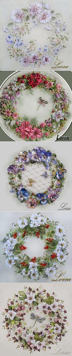 Искусство вышивки лентами Лоры Коровиной. #SilkRibbonEmbroidery