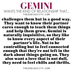 Zodiac Files: Gemini Ideal Relationship.