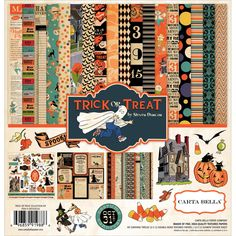 How cute is this Trick or Treat Collection Kit by Carta Bella??