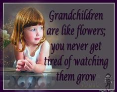 grandchildren are like flowers; you never get tired of watching them grow!