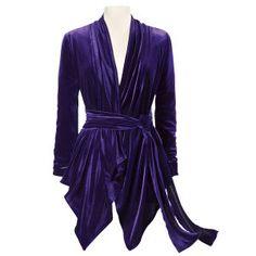 Purple Velvet Sophia Top $90   looks so soft.