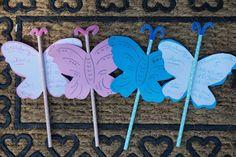 DIY Schmetterling // Einladungskarte zum Kindergeburtstag – Reges Leben Spring, Diy Butterfly, Butterfly Template, Butterfly Invitations, Birthday Invitations Kids, Invitation Cards