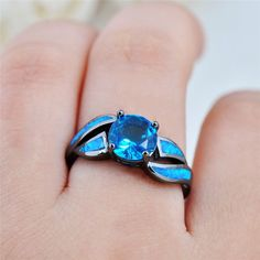 Antique Claw Rings Ocean Fire Opal Black Gold Filled Ring | Mermaid's Purse Shop