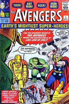 #Avengers number 1, cover art by Jack #Kirby