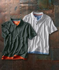 Effortlessly Cool Men's Polos - Catalyst Polo - Carbon2Cobalt