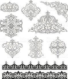 Arabesque Ornaments royalty-free stock vector art