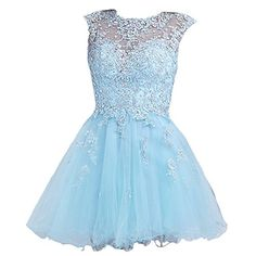 A Line Scoop Sleeveless Short Prom Party Homecoming Dress Size 2 Blue