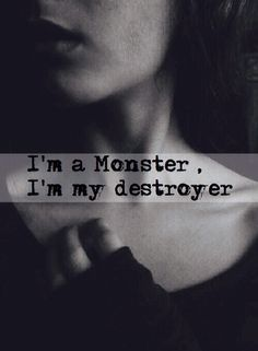 .I'm a monster. I'm my destroyer. I hurt myself to feel alive. I lose control and hurt other people. I don't want people to kill me or torture me, so I'm packing silver bullets and other things for the next time I'm about to snap. I don't know if it'll make a difference, but it's just in case. I don't know what I am anymore. All I know is that I'm in pain and I'm turning into a monster. I'm afraid of being hunted, so I'll just kill myself instead. I want to live, but I don't want to hurt…