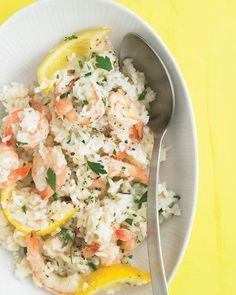 Lemon Shrimp with Rice Recipe
