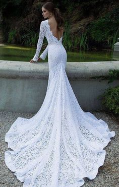 Aliexpress.com : buy long sleeves backless lace wedding dress long with train open back bridal gown 2014 from reliable dress up free games suppliers on mypromdresses