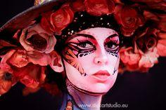 Maquillaje realizado por Corinne Pérez, directora y fundadora de Stick Art Studio, escuela de maquillaje artístico en Barcelona. Fotógrafa: Elena Campos Stick Art, Facial, Face Art, Studio, Body Art, Halloween Face Makeup, Make Up, Cosplay, Creative
