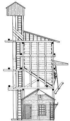 Coaling Tower Plans | Denver & Rio Grand Coaling Tower
