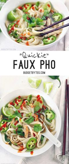 Quickie Faux Phớ - The next best to the real thing when you're short on time. BudgetBytes.com