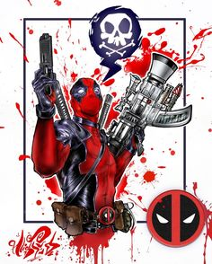"☠💣Limited Edition ""Deadpool"" Prints available on. Deadpool Images, Deadpool Art, Deadpool Stuff, Deadpool Wallpaper, Marvel Wallpaper, Superhero Villains, Marvel Characters, Marvel Art, Marvel Dc Comics"