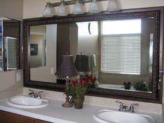 Bathroom Mirror Frame: a-uec576 Bathroom Mirror Frame: a-80020 - Reflected Design Model #: a-80294-Before Mod...