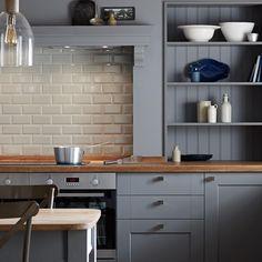 Fairford Slate Grey Kitchen New Ideas Howdens Kitchens, Grey Kitchens, Home Kitchens, Apartment Kitchen, Home Decor Kitchen, New Kitchen, Kitchen Ideas, Kitchen Walls, Copper Kitchen