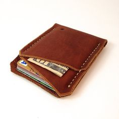 Front pocket wallet / Minimalist wallet / Hand by Wallingandsons, $37.00