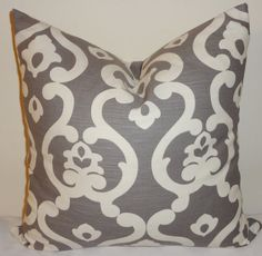 Beautiful Grey & White Geometric Design Scroll Print by HomeLiving, $16.00