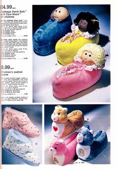 1984 Slippers.  I am pretty sure I had the Cabbage Patch Kids ones.  (I mean really, why would I not have?)