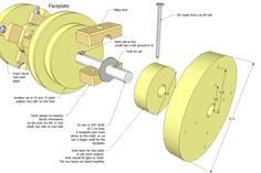 wooden lathe plans preview
