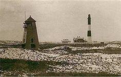 Long Island New York NY Fire Island Lighthouse 1898 Image Vintage Postcard