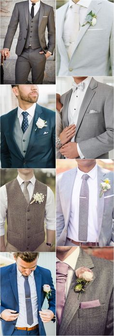 36 Groom Suit That Express Your Unique Styles and Personalities--navy blue, gray wedding groom groomsmen wedding attire, wedding boutonniere , Wedding Men, Wedding Groom, Wedding Attire, Dream Wedding, Summer Wedding Suits, Wedding Ceremony, Wedding Gifts, Wedding Blue, Hair Wedding