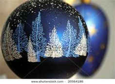 blue handpainted ornament