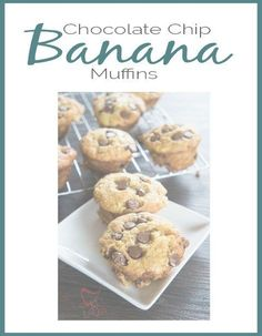 These Chocolate Chip Banana Muffins are a family favorite recipe. by DeDe Bailey