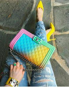 CHANEL rainbow handbag // NATIVE GEM Jewelry
