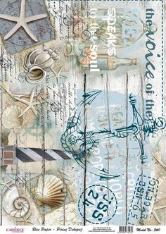 I finally learned how to decoupage paper using Mod Podge WITHOUT the paper bubbling and wrinkling. Decoupage Vintage, Vintage Paper, Paper Art, Paper Crafts, Diy Crafts, Etiquette Vintage, Beach Crafts, Printable Paper, Rice Paper