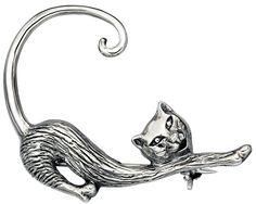 My-jewellery – D337uk - 925 Silver cats brooch * Visit the image link for more details. #BroochesandPins