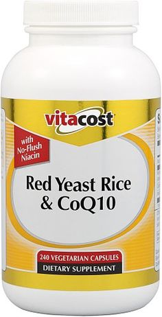 Vitacost Red Yeast Rice  CoQ10 with NoFlush Niacin  240 Vegetarian Capsules >>> Visit the image link more details.
