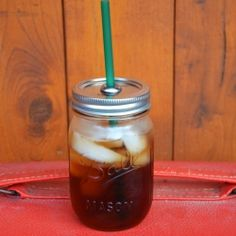 A super easy DIY for making your own reusable to-go cup out of a mason jar!