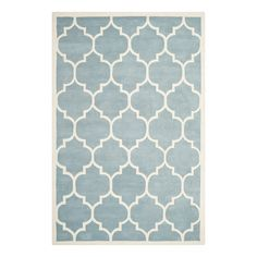 Teppich Morton - Blau/Creme - Maße: 121 x 182 cm