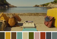 25 Beautiful Color Palettes From Famous Movie Scenes - Airows Famous Movie Scenes, Famous Movies, Movie Color Palette, Colour Pallette, Color Combos, Wes Anderson Color Palette, Cinema Colours, Inspirational Movies, Moonrise Kingdom