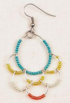 dangling hoop earrings.Craft ideas 854 - LC.Pandahall.com ...