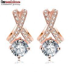 Ladies Stud Crystal Fashion Earrings