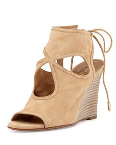 Sexy Thing Wedge Sandal, Nude by Aquazzura at Bergdorf Goodman.