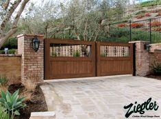 Driveway Gates by Ziegler Doors, Inc. Fence Gate Design, Front Gate Design, Driveway Design, House Gate Design, Aluminum Driveway Gates, Electric Driveway Gates, Driveway Entrance, Wooden Driveway Gates, Front Gates