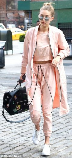 Gigi Hadid looks ready for spring while in New York with her Yolanda Foster | Daily Mail Online