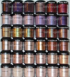 MAC pigment collection