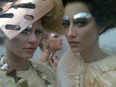 Pat Mcgrath makeup backstage at Dior haute couture Autumn 2011