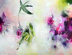 Peinture abstraite sur toile art abstrait peinture rose