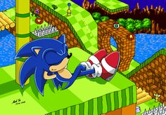 Sonic the Hedgehog in Green Hill Zone