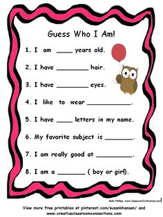 This free printable is a great activity for primary students. View other free printables at pinterest.com/susankhansen/