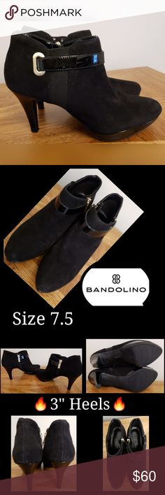 """🔥Bandolino 3"""" Heeled Ankle Boots🔥 🔥Bandolino 3"""" Heeled Ankle Boots🔥Black Leather Upper With Gold Buckle & Inside Zipper. In Excellent Condition! I Will Ship Same Day 📮📬📦 """"FAST SHIPPER"""" I Love Sharing YOUR Closet & Helping In Any Way I Can 😘 """"POSH MENTOR"""" """"AMBASSADOR"""" I Will Personalize Your Package With 💙 & Care """"TOP 10% SHARER"""" """"TOP RATED SELLER"""" Happy Poshing Beauties 👗💄👠👕👖👔 Smoke Free 🚭 Pet Free Home 🚫🐩🐈😍 Bandolino Shoes Ankle Boots & Booties"""
