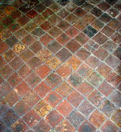 St Andrew's church, Barton Bendish, Norfolk  - medieval floor tiles